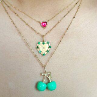 💚✨  #monicagjewels💕 #pendantsoftheday  #18kgoldjewelry  #preciousstones  #finejewelrydesign  #jewelsofinstagram  #handmadewithlove  #handcraftedjewelry  #worldwideshipping