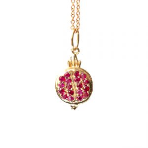 Pomegranate Pendant - Monica G