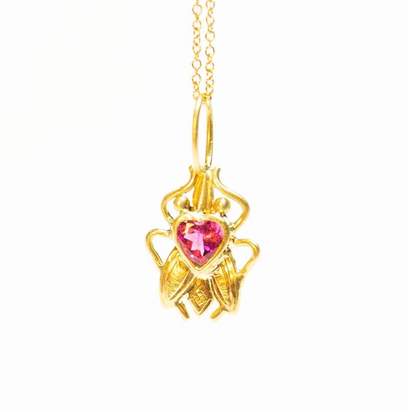 Gold Fly Pendant - Monica G