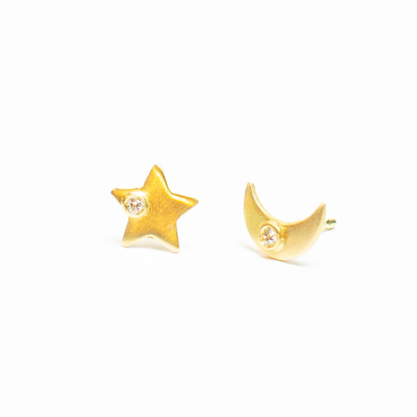 Moon & Star Stud Earring - Monica G.