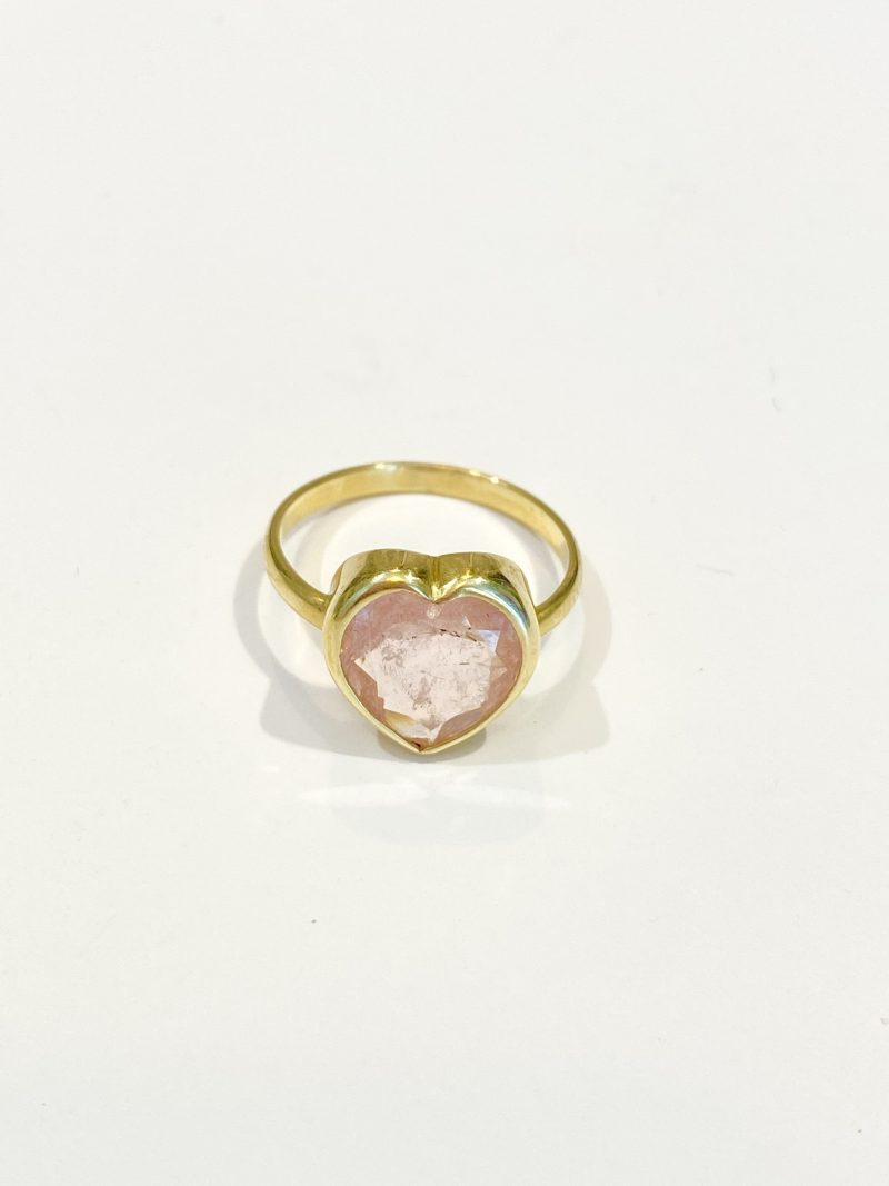 Morganite Heart Ring - Monica G