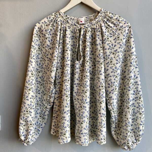 White Flowery Silk Blouse - Monica G. Capsule Collection
