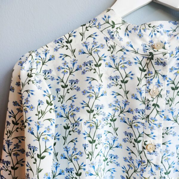 White Flowery Silk Blouse - Monica G. Capsule Collection - 002