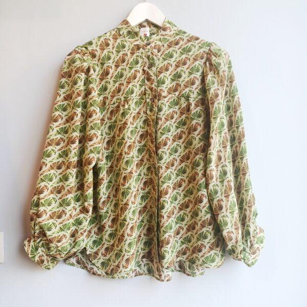 Jungle Print Silk Basic Blouse - Monica G. Capsule Collection