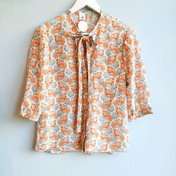 Orange and Blue Flowers Print - Monica G. Capsule Collection-02